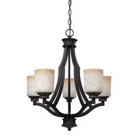"Canarm - Warren - 22"" Chandelier in Rubbed Anitque with Tea Stained Glass"
