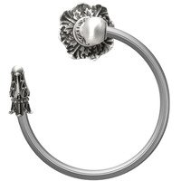 Carpe Diem Hardware - Acanthus - Acanthus Swing Towel Reeded Ring Left Renaissance Style in Cobblestone