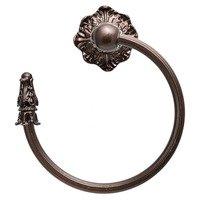 Carpe Diem Hardware - Acanthus - Acanthus Swing Towel Reeded Ring Left Renaissance Style in Cobblestone