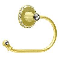 Carpe Diem Hardware - Cache - Swing Tissue Reeded Ring Left With Swarovski Crystals In Cobblestone