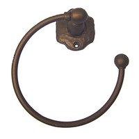 Carpe Diem Hardware - Oak Hollow Traditional Rustic - Swing Towel Ring in Cobblestone