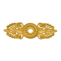 Carpe Diem Hardware - Oracle - Medium Eated Escutcheon in Antique Brass