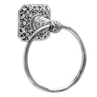 Carpe Diem Hardware - Juliane Grace - Full Towel Ring with Swarovski Elements in Cobblestone with Crystal