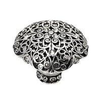 Carpe Diem Hardware - Monticello - Over Sized Knob with Swarovski Elements in Cobblestone with Crystal