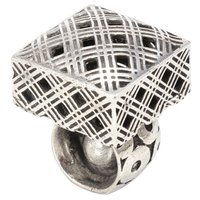 Carpe Diem Hardware - Geometric - Square Knob with Circular Base and Button Interior in Cobblestone
