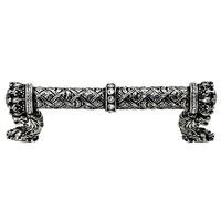 "Carpe Diem Hardware - Crowning Glory Queen Anne - 4"" Centers Pull with Swarovski Elements in Cobblestone with Crystal"