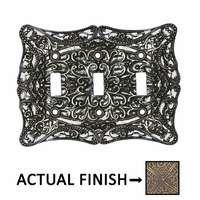 Carpe Diem Hardware - Acanthus - Triple Toggle in Chalice