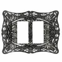 Carpe Diem Hardware - Acanthus - Double Rocker/GFI Switchplate in Chalice