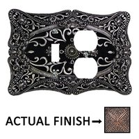 Carpe Diem Hardware - Acanthus - Single Toggle and Single Duplex Outlet in Chalice