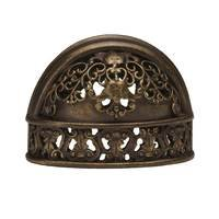 "Carpe Diem Hardware - Quick Ship Antique Brass Knobs and Pulls - 1 1/2"" Finger Pull in Antique Brass"