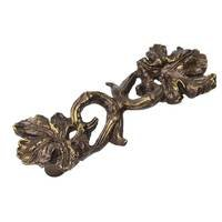 "Carpe Diem Hardware - Quick Ship Antique Brass Knobs and Pulls - Grape Leaf and Vine 3"" Pull in Antique Brass"