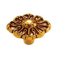 """Cascadia Hardware - Traditional Cabinet Hardware - 1 3/16"""" Ornate Cabinet Knob in Brass"""
