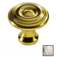 """Colonial Bronze - Antimicrobial Agion Knobs - 5/8"""" Diameter Knob in Satin Brass"""