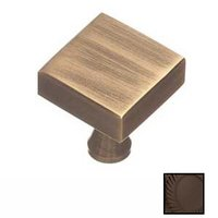 "Colonial Bronze - Knobs - 1"" Square Knob In Satin Bronze"