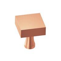 "Colonial Bronze - Knobs - 1"" Square Knob In Satin Bronze"