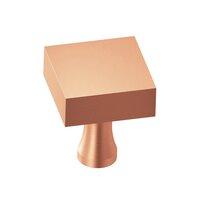"Colonial Bronze - Knobs - 1 1/4"" Square Knob In Satin Bronze"
