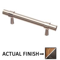 "Colonial Bronze - Pulls - 3"" Centers Pull in Light Statuary Bronze and Oil Rubbed Bronze"