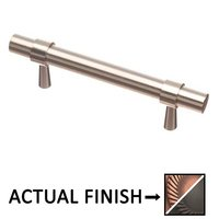 """Colonial Bronze - Pulls - 3 1/2"""" Centers Pull in Matte Antique Copper and Antique Copper"""