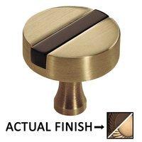 """Colonial Bronze - Split Finish - 1 1/4"""" Knob In Oil Rubbed Bronze And Oil Rubbed Bronze"""