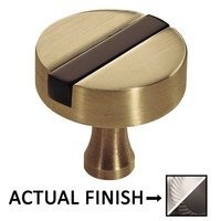 "Colonial Bronze - Split Finish - 1 1/4"" Knob In Satin Chrome And Oil Rubbed Bronze"