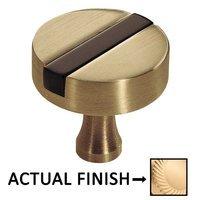 "Colonial Bronze - Split Finish - 1 1/4"" Knob In Satin Brass And Oil Rubbed Bronze"