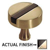 """Colonial Bronze - Split Finish - 1 1/2"""" Knob In Satin Black And Satin Black"""
