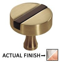"Colonial Bronze - Split Finish - 1 1/2"" Knob In Satin Chrome And Satin Black"