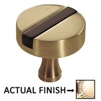 "Colonial Bronze - Split Finish - 1 1/2"" Knob In Polished Bronze And Polished Brass"