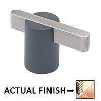"""Colonial Bronze - Split Finish - 1 7/8"""" Knob In Polished Brass And Oil Rubbed Bronze"""