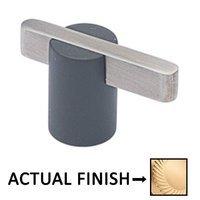 "Colonial Bronze - Split Finish - 1 7/8"" Knob In Satin Brass And Oil Rubbed Bronze"