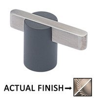 """Colonial Bronze - Split Finish - 1 7/8"""" Knob In Matte Satin Nickel And Polished Nickel"""