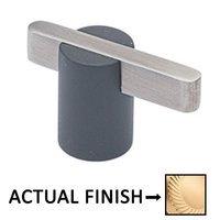 "Colonial Bronze - Split Finish - 1 7/8"" Knob In Satin Brass And Satin Bronze"