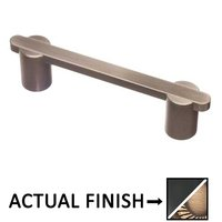 "Colonial Bronze - Pulls - 3 1/2"" Centers Pull in Matte Satin Black and Satin Bronze"