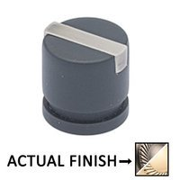 "Colonial Bronze - Split Finish - 1"" Knob In Pewter And Polished Nickel"