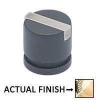 "Colonial Bronze - Split Finish - 1"" Knob In Polished Brass And Polished Nickel"