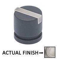 "Colonial Bronze - Split Finish - 1"" Knob In Matte Satin Chrome And Polished Chrome"