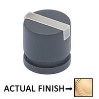 """Colonial Bronze - Split Finish - 1 1/4"""" Knob In Satin Brass And Polished Nickel"""