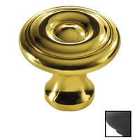 "Colonial Bronze - Antimicrobial Agion Knobs - 1 1/8"" Knob in Satin Brass"