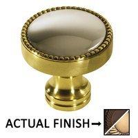 "Colonial Bronze - Split Finish - 1 1/4"" Knob In Oil Rubbed Bronze And Satin Bronze"