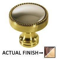 "Colonial Bronze - Split Finish - 1 1/4"" Knob In Antique Copper And Antique Copper"