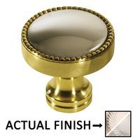 "Colonial Bronze - Split Finish - 1 1/4"" Knob In Satin Nickel And Satin Bronze"