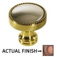 "Colonial Bronze - Split Finish - 1 1/4"" Knob In Matte Antique Copper And Antique Copper"