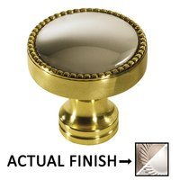 """Colonial Bronze - Split Finish - 1 1/4"""" Knob In Matte Satin Nickel And Polished Nickel"""