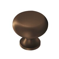 """Colonial Bronze - Antimicrobial Agion Knobs - 1"""" Knob in Satin Brass"""