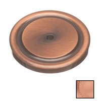"""Colonial Bronze - Antimicrobial Agion Knobs - 1 1/2"""" Round Backplate in Satin Brass"""