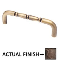 "Colonial Bronze - Appliance Pulls - 8"" Centers Traditional Thru Bolt Pull in Satin Bronze"