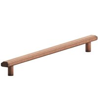 """Colonial Bronze - Appliance Pulls - 12"""" Centers Beveled Appliance Thru Bolt Pull in Polished Nickel"""