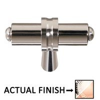 """Colonial Bronze - Split Finish - 2 1/4"""" Overall Length T Shape Knob In Polished Nickel And Polished Nickel"""