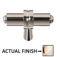"""Colonial Bronze - Split Finish - 2 1/4"""" Overall Length T Shape Knob In Polished Copper And Antique Copper"""