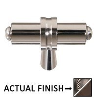 "Colonial Bronze - Split Finish - 2 1/4"" Overall Length T Shape Knob In Matte Pewter And Matte Oil Rubbed Bronze"